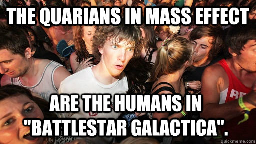 The Quarians in Mass Effect Are the humans in