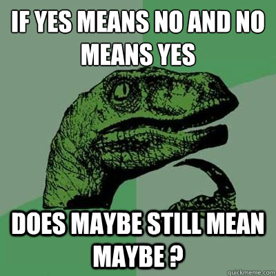 What does yes and no mean