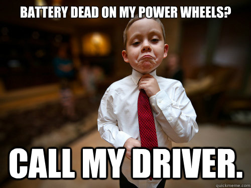 Battery dead on my power wheels? call my driver.