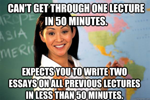 What is the secret to writing an essay in 50 mins or less?