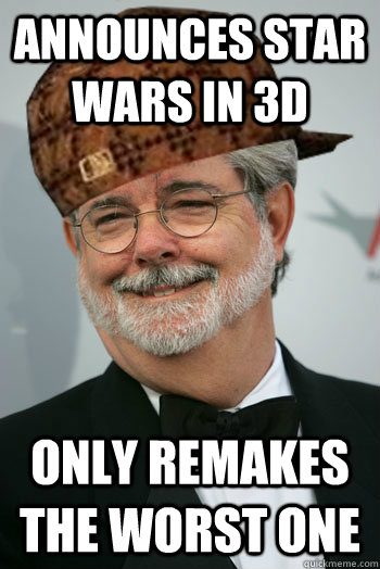 announces star wars in 3d only remakes the worst one