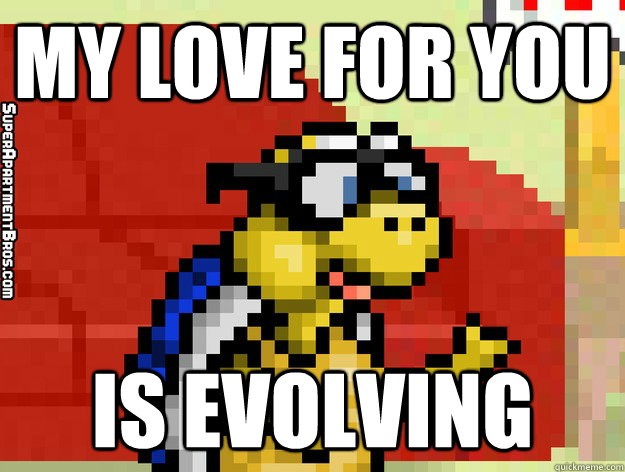My Love For You is Evolving  Video Game Valentine