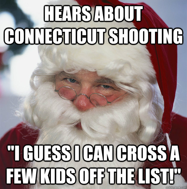 Hears about Connecticut Shooting