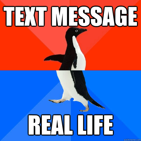 text message real life