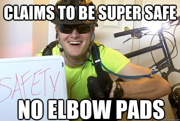 Claims to be Super Safe No Elbow pads