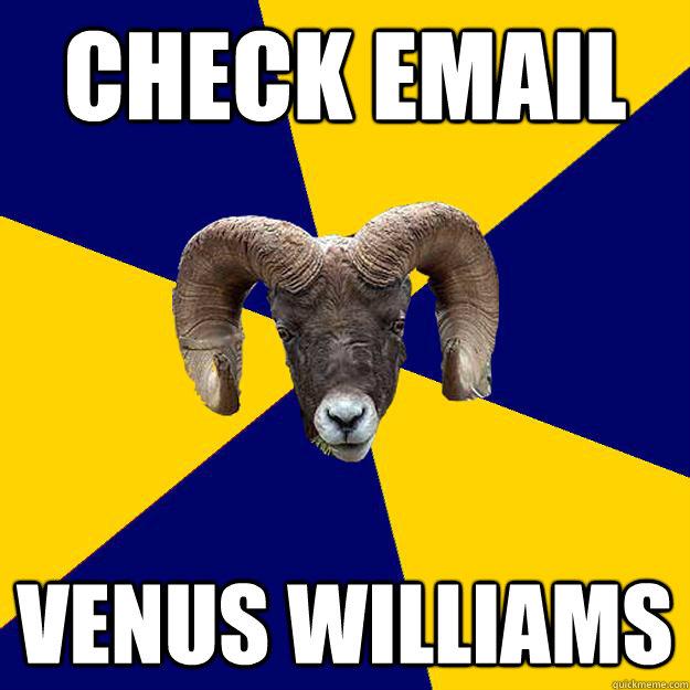 check email venus williams  Suffolk Kid Ram
