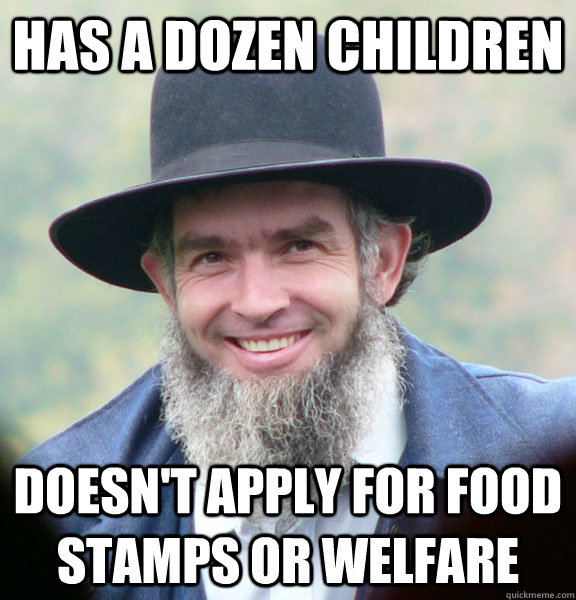 has a dozen children doesn't apply for food stamps or welfare