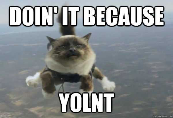 Doin' it because YOLNT  YOLNT
