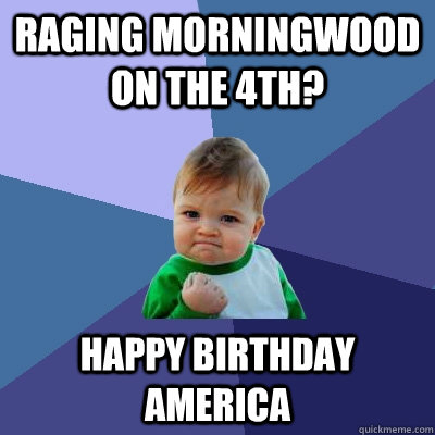 Raging Morningwood on the 4th? Happy Birthday America - Raging Morningwood on the 4th? Happy Birthday America  Success Kid