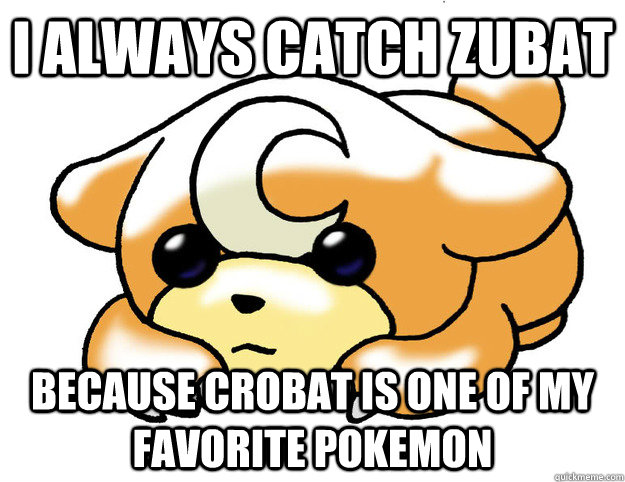I always catch zubat Because Crobat is one of my favorite pokemon - I always catch zubat Because Crobat is one of my favorite pokemon  Confession Teddiursa