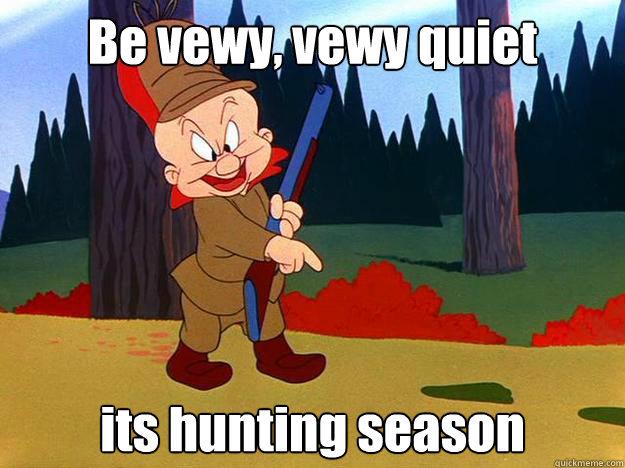 Be vewy, vewy quiet its hunting season