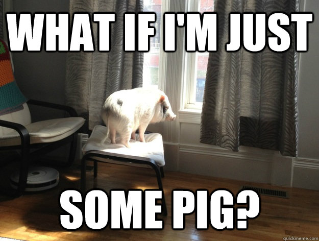 What if I'm just Some Pig?