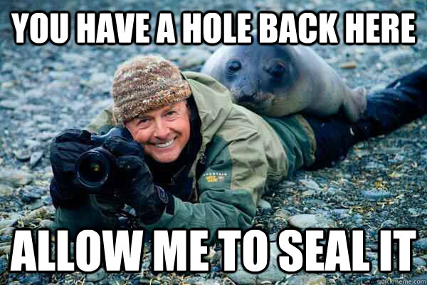 You have a hole back here allow me to seal it - You have a hole back here allow me to seal it  Rapist Seal