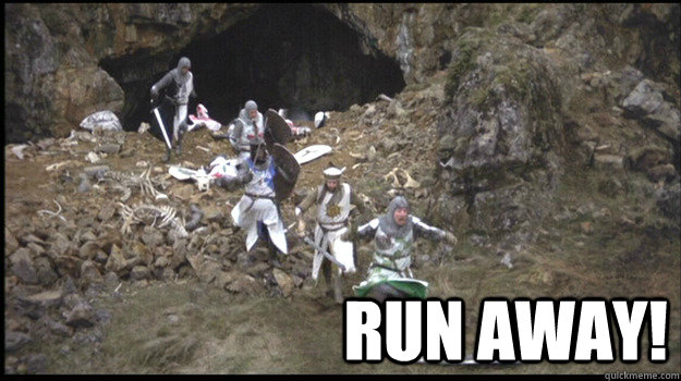 Image result for run away meme