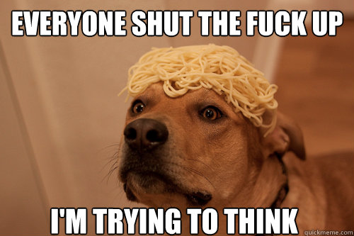 everyone shut the fuck up i'm trying to think - everyone shut the fuck up i'm trying to think  10 Dog