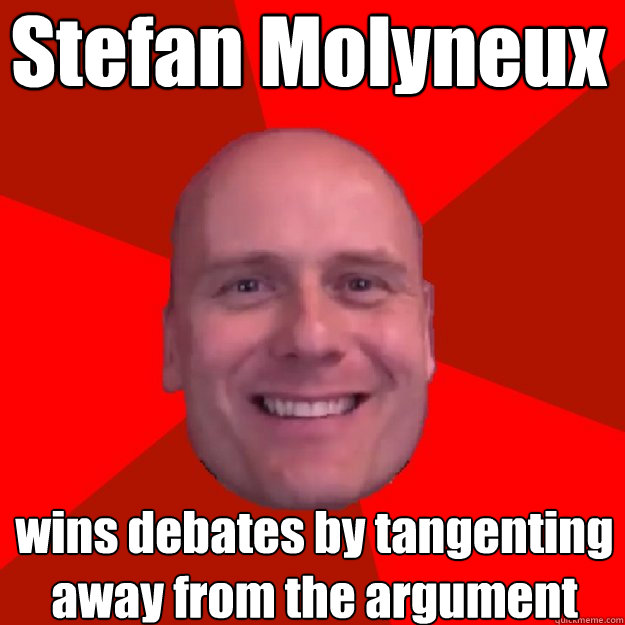 Stefan Molyneux wins debates by tangenting away from the argument