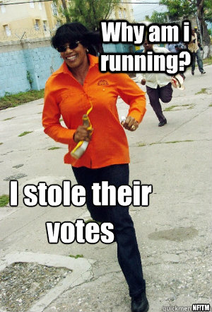 Why am i running? I stole their votes  NF!TM - Why am i running? I stole their votes  NF!TM  Portia meme