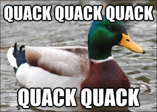 Quack quack quack quack quack - Quack quack quack quack quack  Actual Advice Mallard