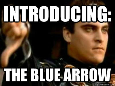 introducing: the blue arrow - introducing: the blue arrow  Downvoting Roman