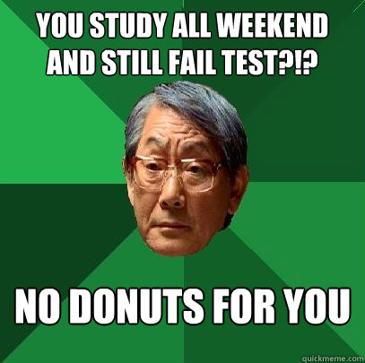 studied for test and still failed relationship