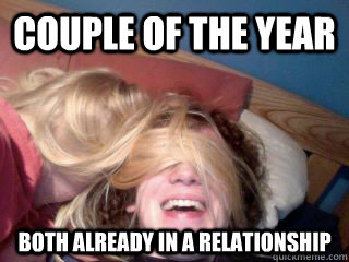 Fun Couple Meme : Couple of the year both already in a relationship happy face sex