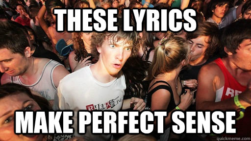 THEsE LYRICS MAKE PERFECT SENSE - THEsE LYRICS MAKE PERFECT SENSE  Sudden Clarity Clarence