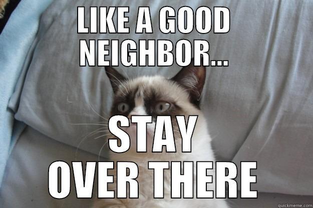 aea479985acd1f9896c38549d076bf52ff3ad062d057019f4b63051bcbd4d001 grumpy cat memes quickmeme,Like A Good Neighbor Statefarm Is There Meme