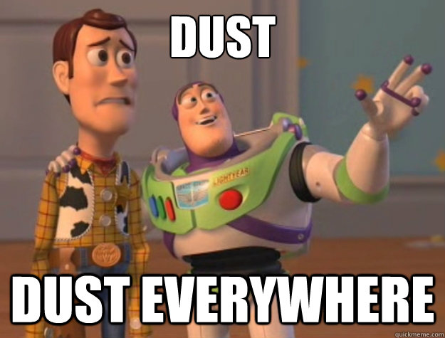 Dust Dust everywhere - Dust Dust everywhere  Buzz Lightyear