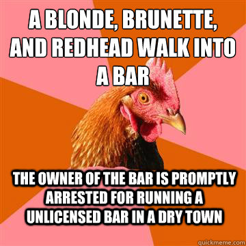 Consider, that Blonde brunette joke redhead the