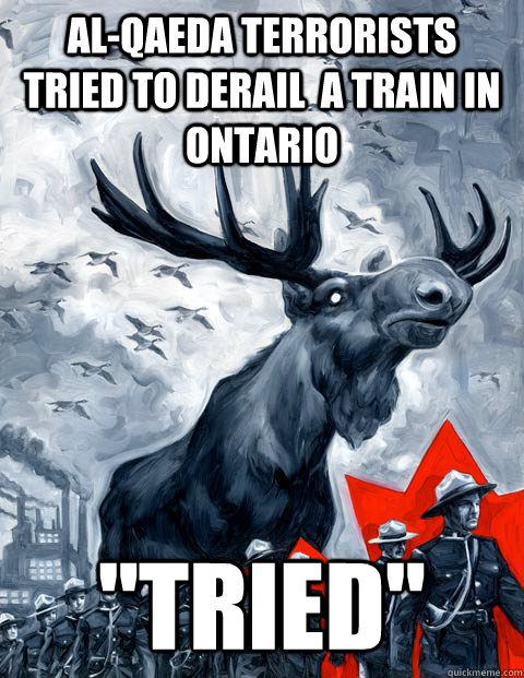 Al-Qaeda Terrorists tried to derail  a train in ontario