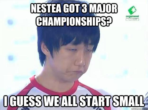 Nestea got 3 major championships? I guess we all start small
