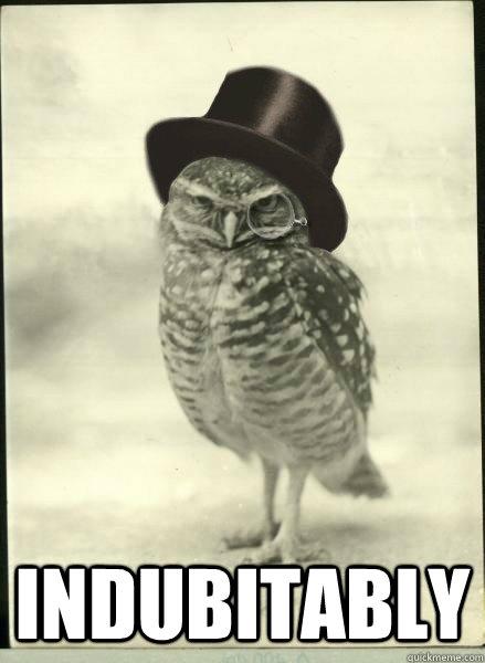 indubitably  Superb Owl