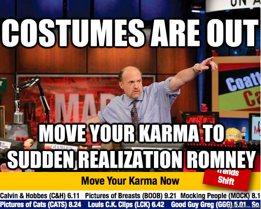 Costumes are out Move your karma to sudden realization romney - Costumes are out Move your karma to sudden realization romney  Mad Karma with Jim Cramer