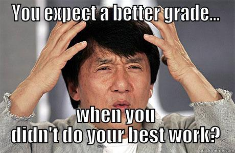 You want an A? - YOU EXPECT A BETTER GRADE... WHEN YOU DIDN'T DO YOUR BEST WORK? EPIC JACKIE CHAN