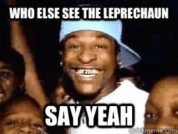 af2b962999f7e286e8f444851b773628a3c277b7e1138086b8314a0fd6343f41 who else see the leprechaun say yeah leprechaun ledell quickmeme