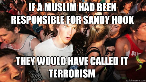 If a Muslim had been responsible for Sandy Hook  They would have called it Terrorism - If a Muslim had been responsible for Sandy Hook  They would have called it Terrorism  Sudden Clarity Clarence