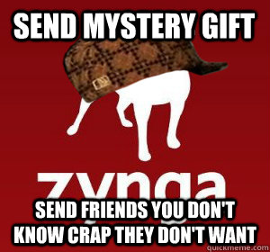 send mystery gift send friends you don't know crap they don't want