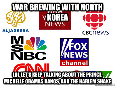 War brewing with North Korea Lol let's keep talking about the prince, michelle obamas bangs, and The Harlem Shake - War brewing with North Korea Lol let's keep talking about the prince, michelle obamas bangs, and The Harlem Shake  Scumbag News Stations