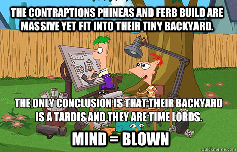 afc41b7e7e0f723e9eeaf6ca47ef6842920c9671e14c234ccfe52b062cf45833 the contraptions phineas and ferb build are massive yet fit into