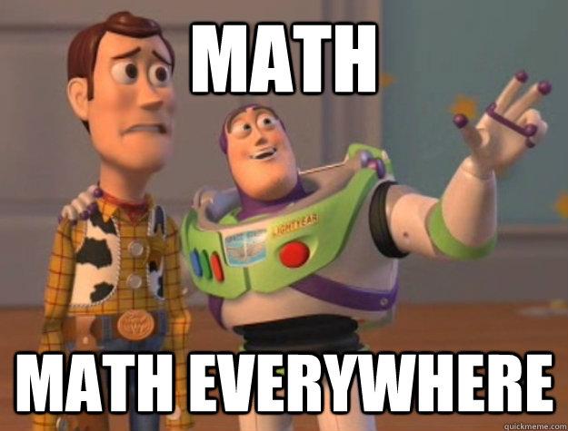 Math Math Everywhere - Buzz Lightyear - quickmeme