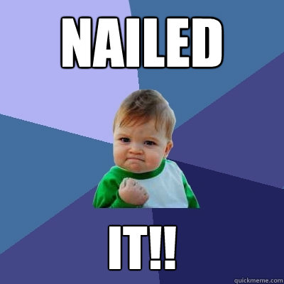 Nailed it!! - Nailed it!!  Success Kid