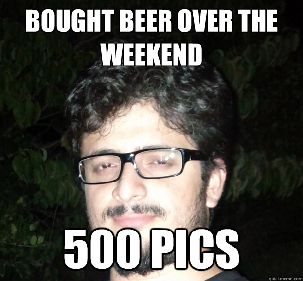 Bought beer over the weekend 500 pics