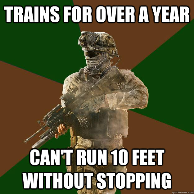 Trains for over a year can't run 10 feet without stopping