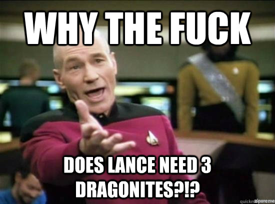 Why the fuck Does lance need 3 dragonites?!? - Why the fuck Does lance need 3 dragonites?!?  Misc