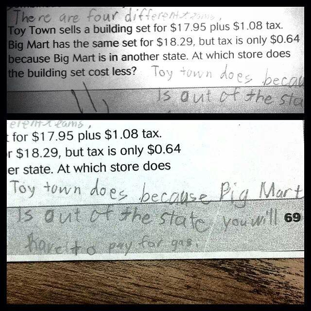 Critical thinking by a 4th grader -   Misc