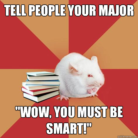 tell people your major