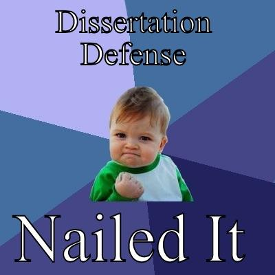 Dissertation defence