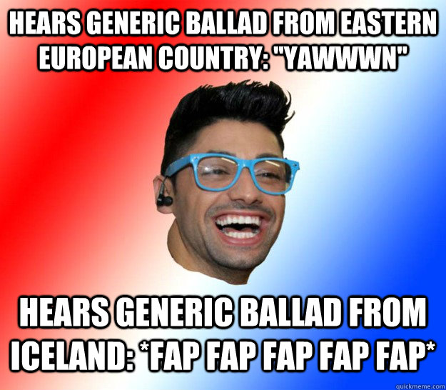 HEARS GENERIC BALLAD FROM EASTERN EUROPEAN COUNTRY: