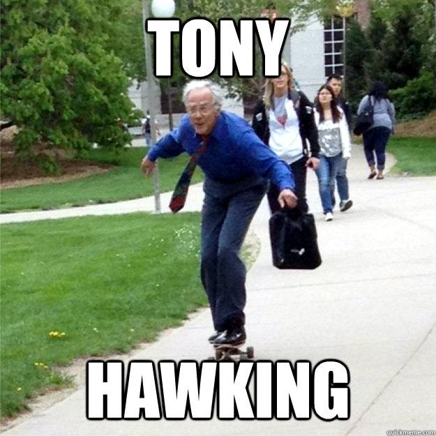 tony hawking - tony hawking  Skating Prof