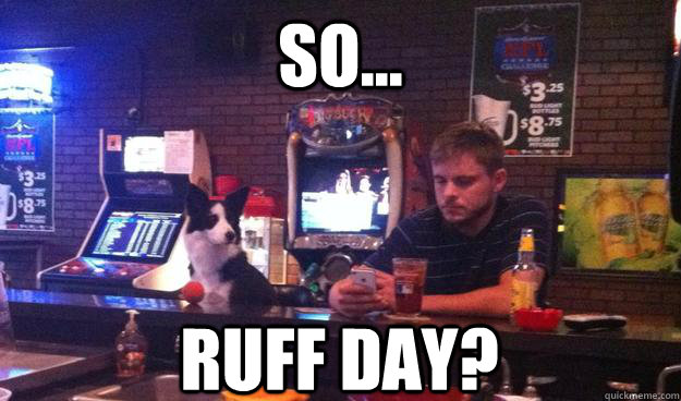 So... Ruff day?